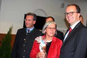 Gastgeberin Johanna Werner- Muggendorfer mit Markus Rinderspacher, Kelheims